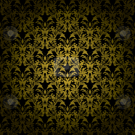 Floral gothic karki stock photo, Golden brown floral design that would make an ideal seamless background by Michael Travers