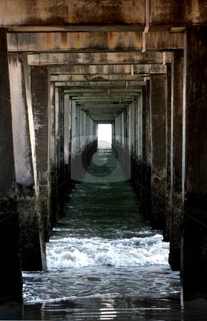 Underneath a Pier stock photo, Underneath a Pier by Ryan Bouie