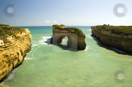 Island Archway, Victoria Australia stock photo, Island Archway is a natural rock formation in Australia, along the Great Ocean Road. by Lee Torrens