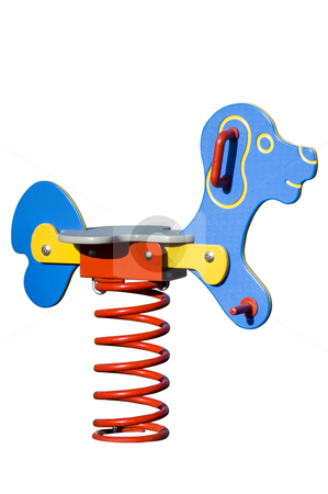 Dog Ride stock photo, Isolated playground toy by Lee Torrens