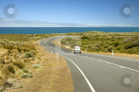 The Great Ocean Road - Australia's recreational drive stock photo, On the south-east coast of Australia, the Great Ocean Road provides tourists with spectacular views and scenery. by Lee Torrens