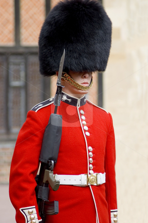 Queen's Guard stock photo, Close up of a British guard (UK) by Lee Torrens