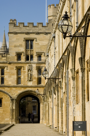 Christchurch University stock photo, Christchurch Univeristy (Oxford, England) by Lee Torrens