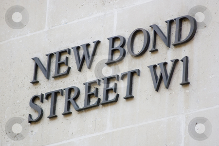New Bond Street Sign stock photo, London's New Bond street sign (UK) by Lee Torrens