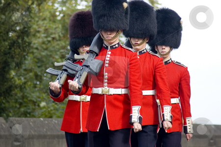 Royal Guards stock photo, Changing of the guards (England) by Lee Torrens