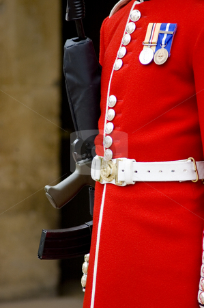 Royal Guard stock photo, Detail of a guard in London , England by Lee Torrens