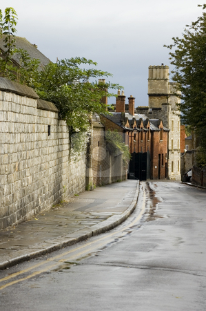 Cute street stock photo, Cute little street in Windsor (England) by Lee Torrens