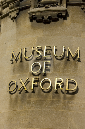 Museum of Oxford (England) stock photo, Museum of Oxford entrance sign by Lee Torrens