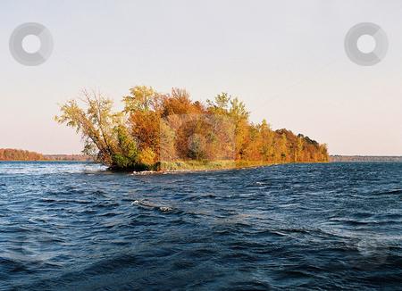 Battle Point_Cutfoot Sioux Lake_Minnesota Autumn stock photo, Autumn in full bloom on Cutfoot Sioux Lake's Battle Point, Minnesota by Bruce Peterson