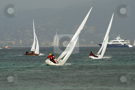 Regatta stock photo, Sailboats of type