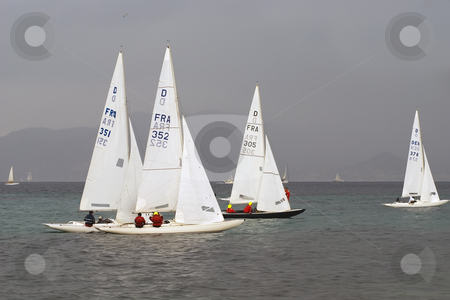 Regatta stock photo, Sailboats of type