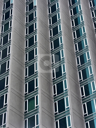 Skyscraper closeup stock photo, Offices building closeup in Manhattan by Laurent Dambies