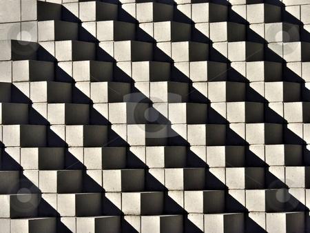 Concrete wall pattern stock photo, Closeup shot of a concrete wall pattern by Laurent Dambies