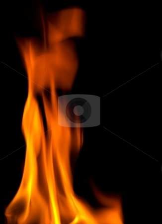 Wood fire stock photo, Closeup shot of a wood fire in slow motion by Laurent Dambies