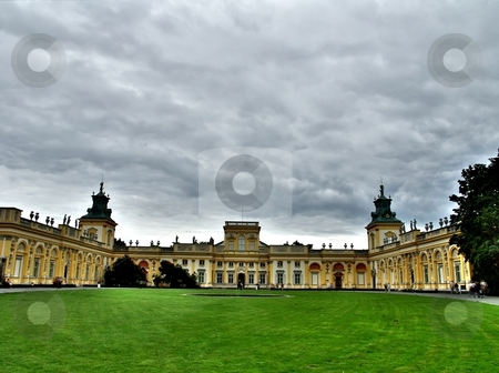 Wilanow palace in Warsaw stock photo, General view of Wilanow palace in Warsaw by Laurent Dambies