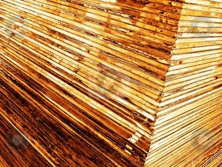 Gold sheets stock photo, A pile of gold sheets took from a corner by Laurent Dambies
