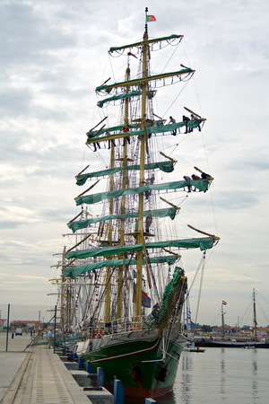 Tall ships Regatta - Funchal 500 years stock photo, Some of the biggest tall ships in the world that participate at the tall ships regatta 500 years of the discovery of Funchal Island.  ALEXANDER VON HUMBOLDT ship - 20 of September 2008,  City of Ilhavo dock by Paulo Resende