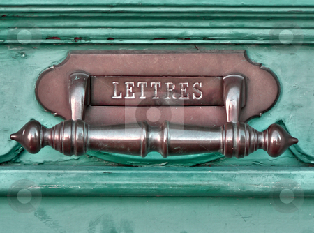 French letter box stock photo, Closeup of a french letter box by Laurent Dambies
