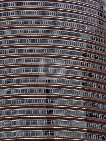 Modern blue skyscraper  stock photo, Rounded modern skyscraper  in Manhattan by Laurent Dambies