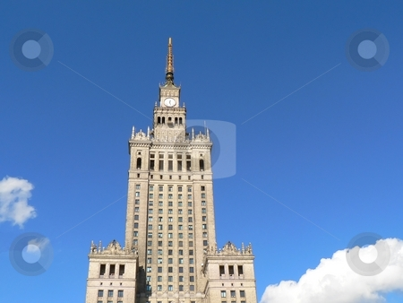 Palace of culture landmark of Warsaw Poland stock photo, Palace of culture landmark of Warsaw Poland by Laurent Dambies