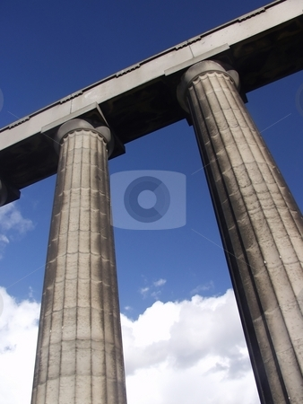 Stone columns  stock photo, National monument in Carlton hill in Edinburgh by Laurent Dambies