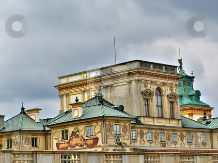 Wilanow palace in Warsaw stock photo, Close up shot of the Wilanow palace in Warsaw by Laurent Dambies