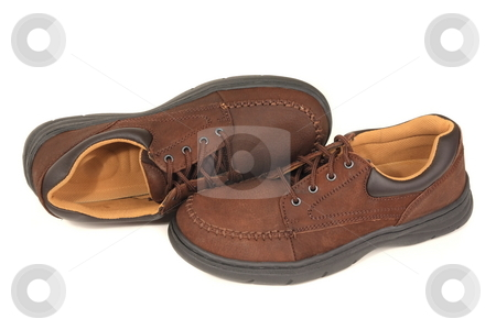 Mens Shoes stock photo, Mens shoes cataloge display by Jack Schiffer