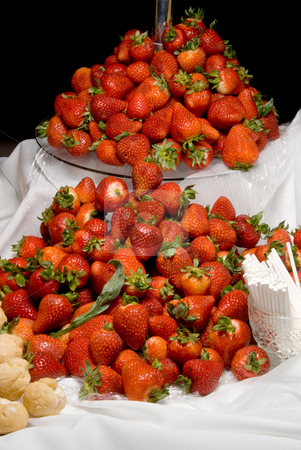 Strawberries stock photo, A selection of fresh strawberries ready to be eaten. by Robert Byron