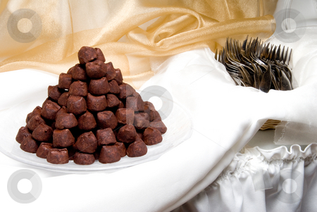 Truffles stock photo, A plate of gourmet truffles ready for consumption. by Robert Byron