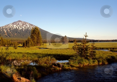 Mt. Bachelor stock photo,  by Harold Johnson