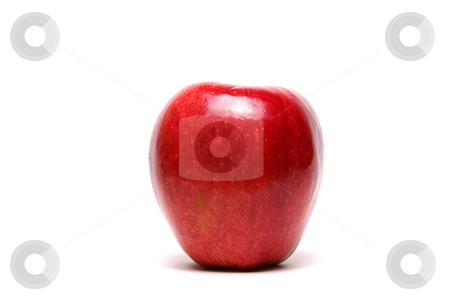 Gala Apple stock photo, Gala apple on white seamless background. by Clay Anthony