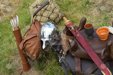 Ancient roman arms and armour stock photo,  by Mark Smith