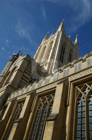 Bury Saint Edmunds Cathedral and heaven stock photo,  by Mark Smith