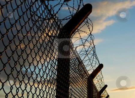 Security Fence stock photo,  by Mark Smith
