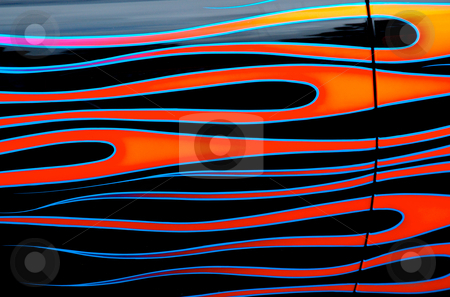 Flames - Custom Car art stock photo,  by Mark Smith