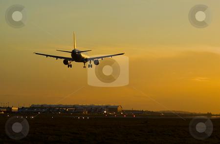 Plane landing stock photo,  by Mark Smith