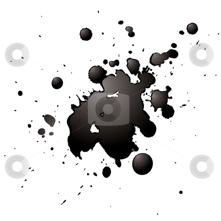 3d ink stock vector clipart, Ink splash with a 3d effect isolated on a white background by Michael Travers