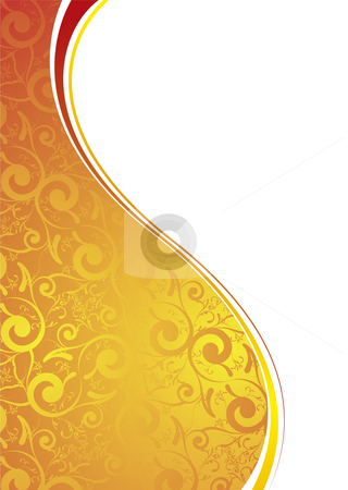 Golden transparent stock vector clipart, Abstract wallpaper design in yellow and orange with copyspace by Michael Travers