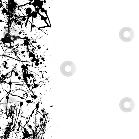 Blk splat border stock vector clipart, Abstract ink splat border with room to add your own copy by Michael Travers