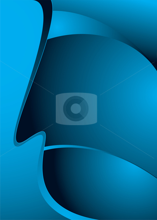 Blue shell like stock vector clipart, Abstract blue and black modern background with copy space by Michael Travers