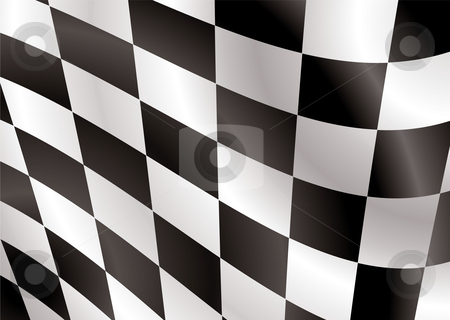 Checkered flag flap stock vector clipart, Abstract checkered flag flapping in the wind ideal background by Michael Travers