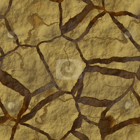 Parched earth stock photo, Cracked parched earth ground surface texture illustration by Kheng Guan Toh