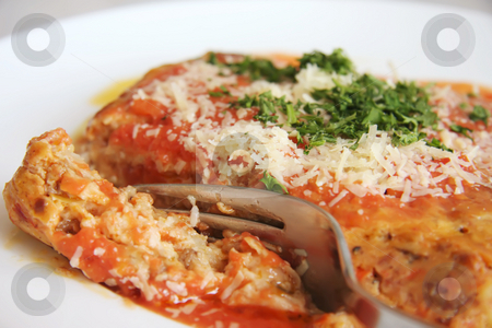 Lasagna stock photo, Dish of baked lasagna italian pasta cuisine by Kheng Guan Toh