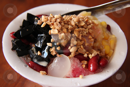 Shaved ice dessert stock photo, Traditional asian dessert of shaved ice by Kheng Guan Toh