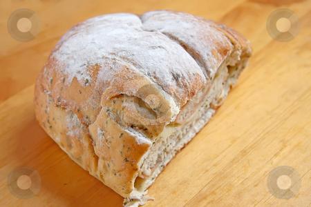 Fancy sandwich stock photo, Fancy cheese and ham sandwic baked bread roll by Kheng Guan Toh