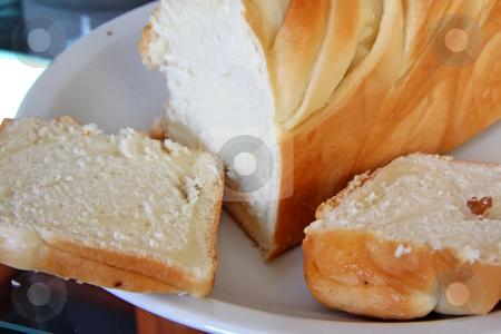 Sweet german bread stock photo, Sweet german milk bread pastry whole loaf by Kheng Guan Toh