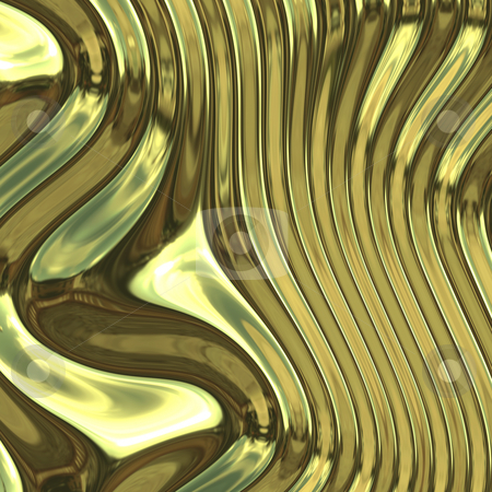 Warped metal chrome stock photo, Smooth glossy chromed warped reflective metal surface texture by Kheng Guan Toh