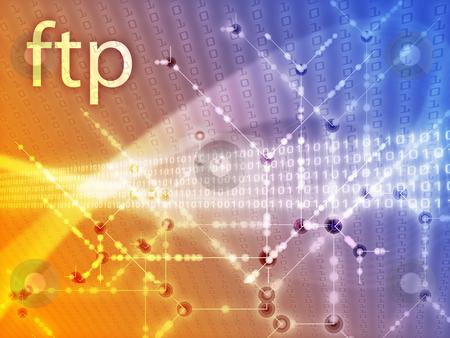 Ftp data illustration stock photo, File transfer protocol ftp illustration, Digital data transfer by Kheng Guan Toh