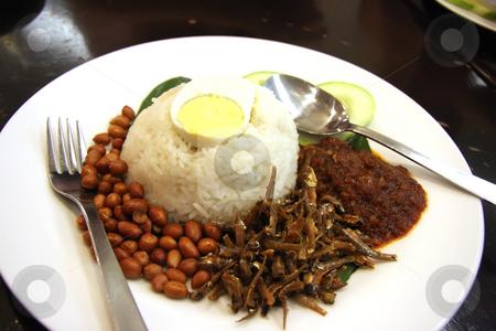 Nasi lemak stock photo, Nasi lemak traditional malaysian spicy rice dish by Kheng Guan Toh