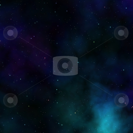 Outerspace sky stock photo, Space nebula starfield abstract illustration of outerspace starry sky by Kheng Guan Toh
